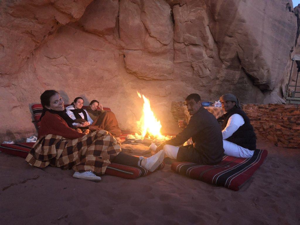 Bivouac in our cave wadi rum
