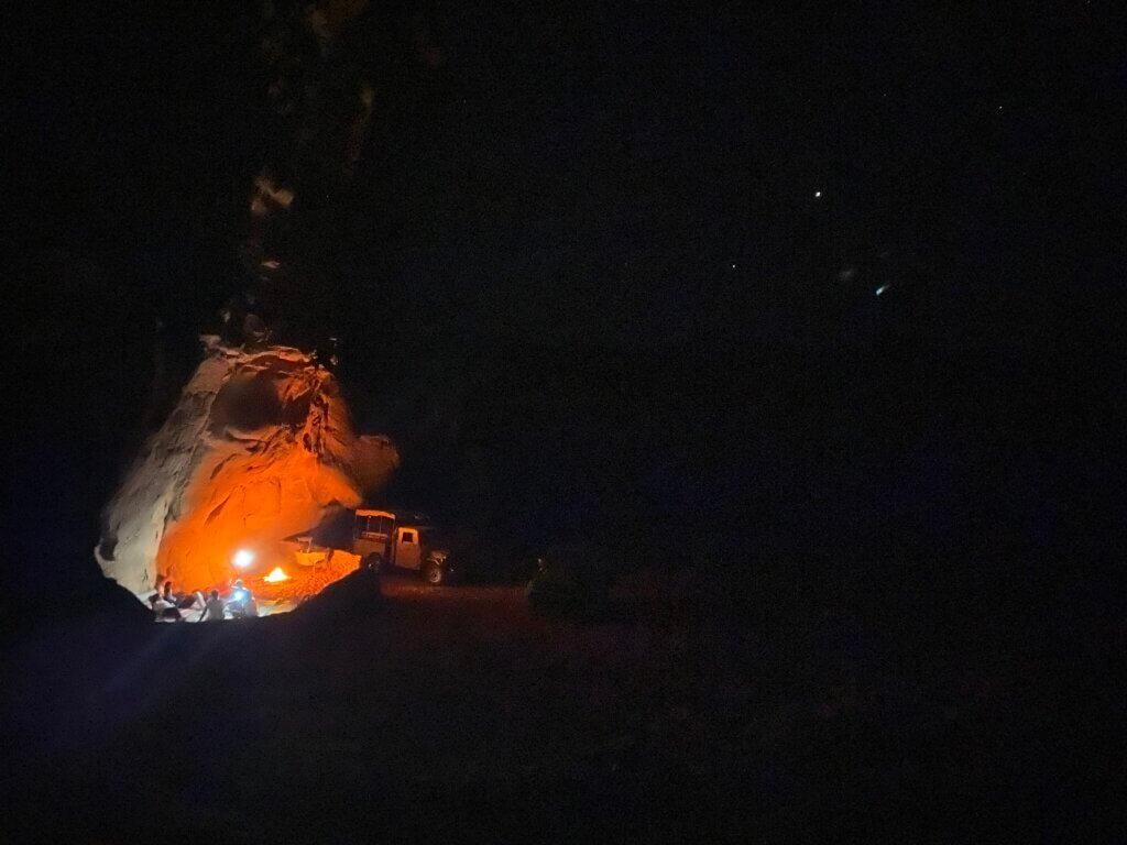 Sleeping under the stars wadi rum