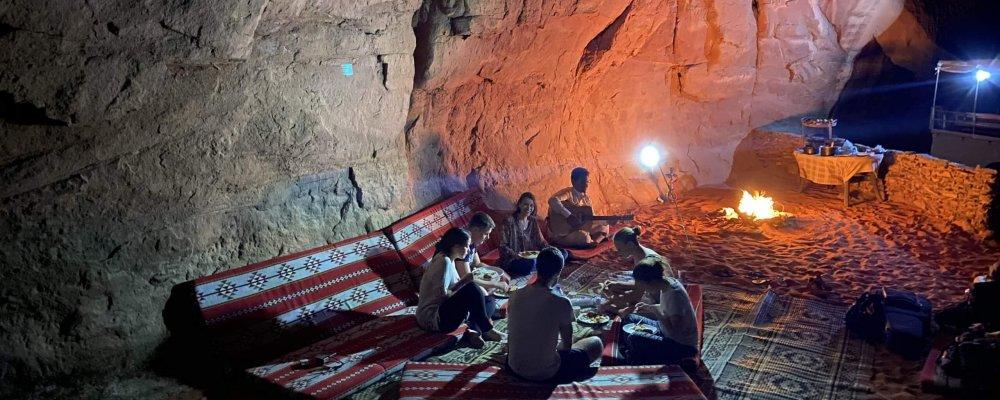 Night in bedouin camp
